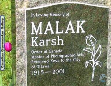 Headstone of Malak Karsh